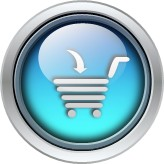 glass round cart icon