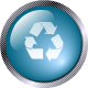 square glass recycle icon