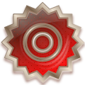 star glass metal button red
