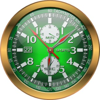 green shine clock