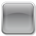 square 3D glass icon gray