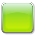 square 3D glass icon green