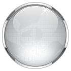 gray glass ball button