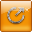 square glass power icon