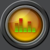 glass round equalizer icon