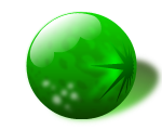 green glass marble ball