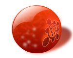 red glass marble ball