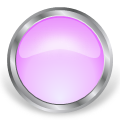 round glass metal button pink