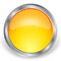 round glass metal button yellow
